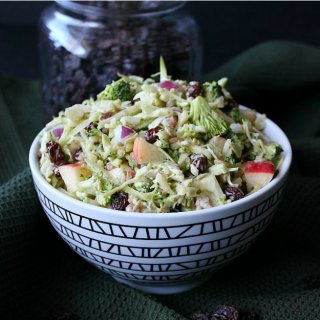 Vegan Apple Broccoli Salad is a fall and winter favorite.