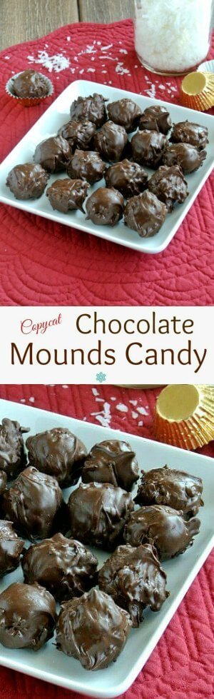 Chocolate Mounds Candy Balls recipe is based on the Mounds Bar. Four ingredients is all it takes to send you to chocolate ecstasy.