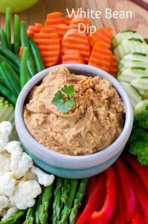 Healthy White Bean Dip is here to help with healthy noshing. Get ready for the next get-together that is just around the corner. Fast & tasty!
