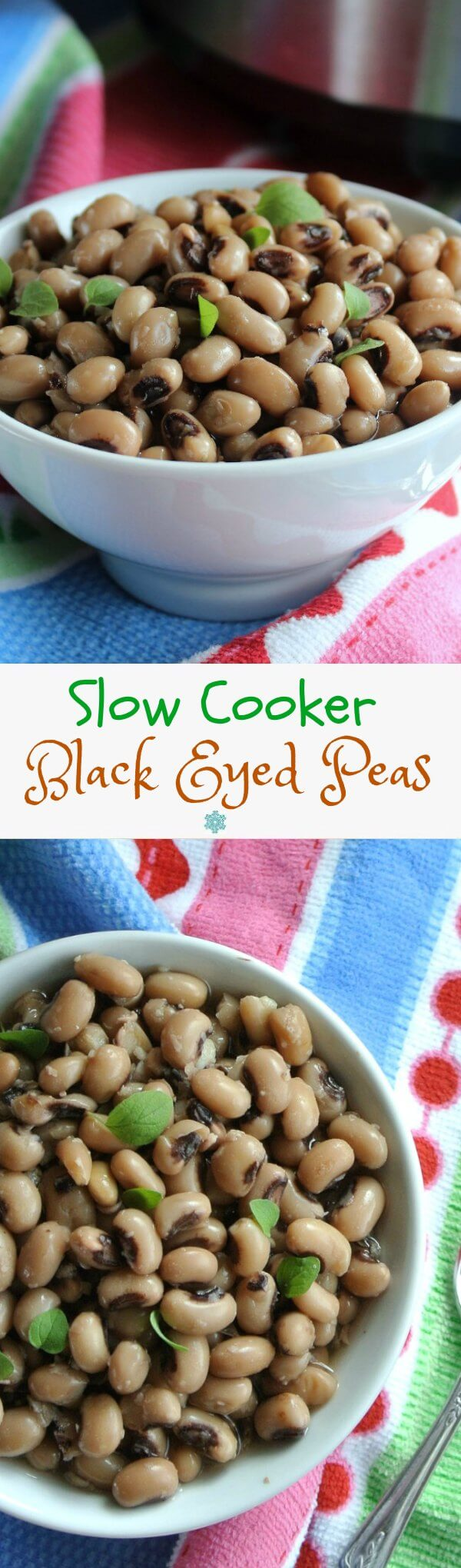 Black Eyed Peas are easy from the slow cooker.  A traditional dish to have on New Year's Day.  Every bean you eat is a lucky day. Really!