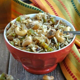 Cashew Rice Bowl has an Asian Flare that makes a nice bowl of comfort food.