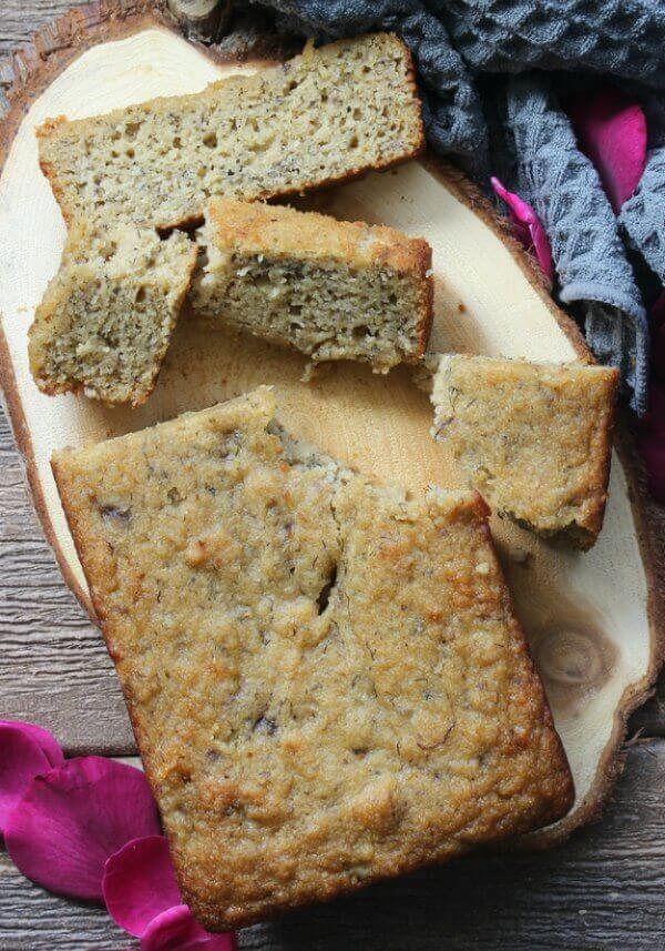 Moist Gluten-Free Banana Bread is something that can be enjoyed by Everyone. Almond flour & maple syrup make this quick bread perfection.