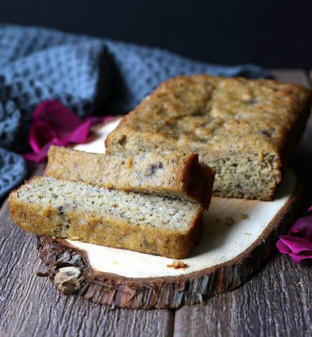 Moist Gluten-Free Banana Bread is something that can be enjoyed by Everyone. Almond flour & maple syrup make this bread perfection.