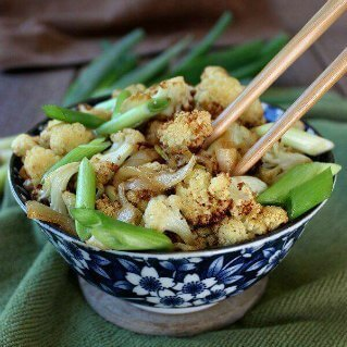 Air Fried Spicy Cauliflower Stir-Fry