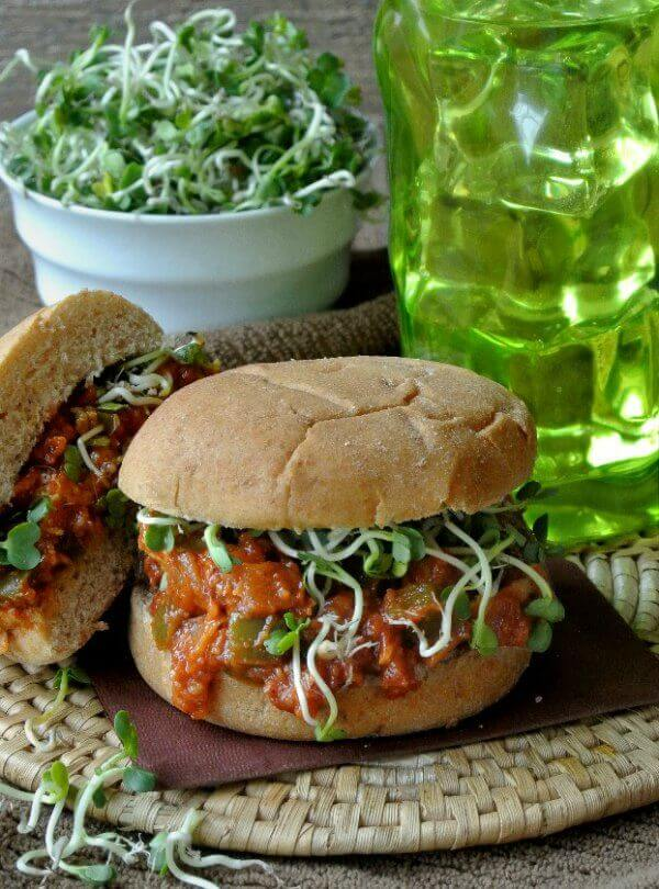 Vegan BBQ Chicken Sandwich is easily made from scratch. Tangy barbeque sauce is a flavor that one can't forget so go ahead and enjoy.