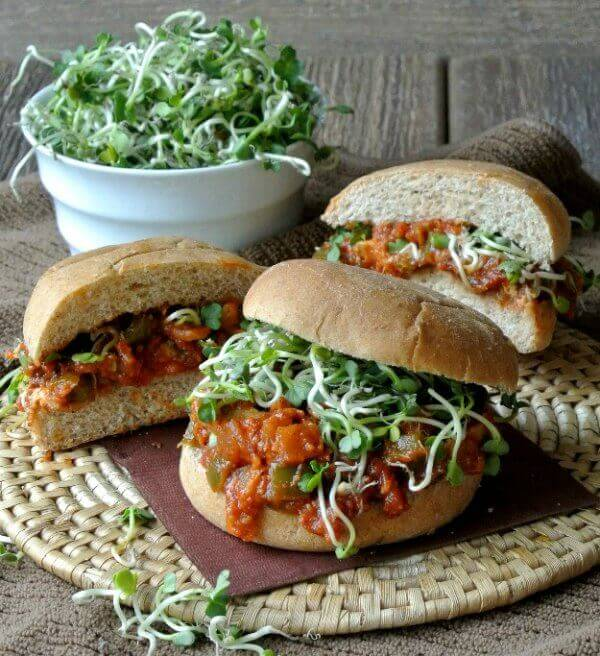Vegan BBQ Chicken Sandwich is easily made from scratch. The tangy barbeque sauce is a flavor that one can't forget so go ahead and enjoy.