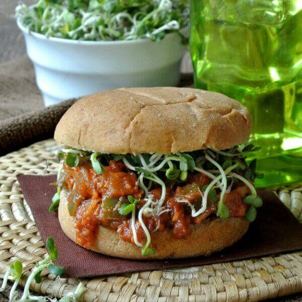 Vegan BBQ Chicken Sandwich