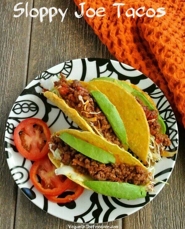 Mexican Sloppy Joe Tacos sound unusual don't they? Easy, unusual and delicious and it will take you under 20 minutes. Just hold it over your plate and enjoy.
