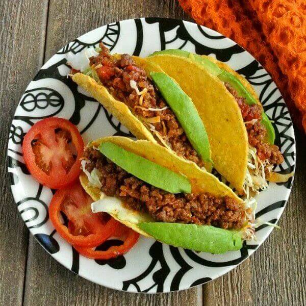 Mexican Sloppy Joe Tacos! Just hold it over your plate and enjoy.