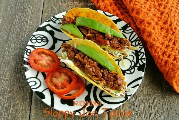 Mexican Sloppy Joe Tacos are easy, unusual and delicious. Just hold it over your plate and enjoy.