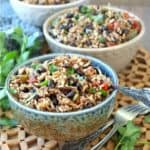 Acadian Black Beans and Rice is an updated version of the red beans and rice classic.
