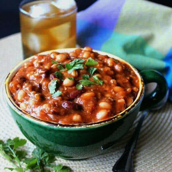 Homemade Vegan Chili With Mixed Beans Recipe Vegan In The Freezer