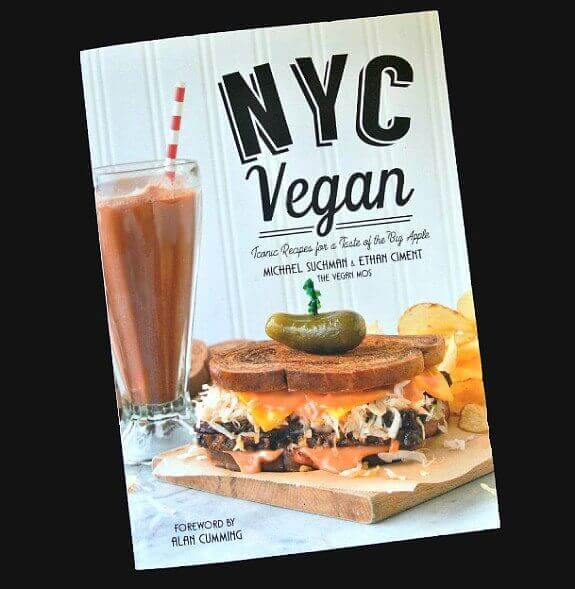 NYC Vegan Cookbook Cover filled with fabulous recipes including Dairy free New York Cheesecake.