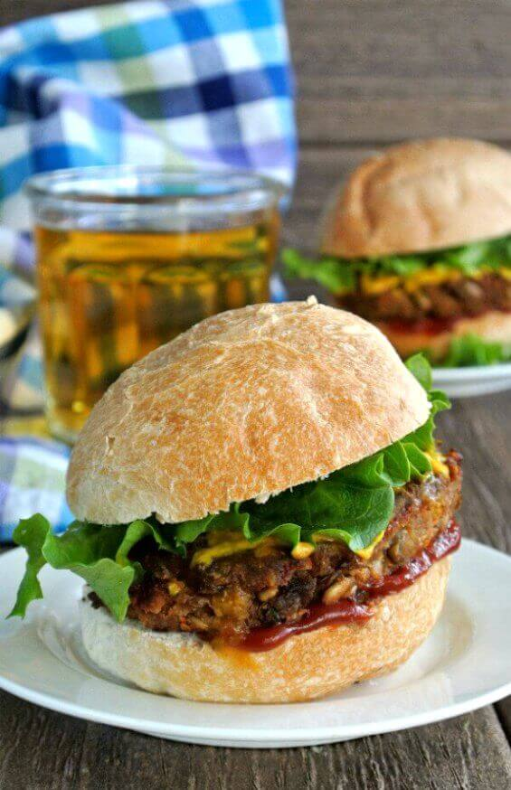 Spicy Green Lentil Burgers is one of the best veggie combinations you could ask for