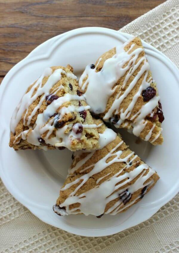Gluten-Free Cranberry Orange Scones are the perfect treat.