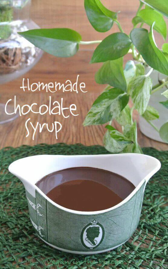 Homemade Chocolate Syrup is clean eating with no preservatives or additives. So easy and this deep rich chocolate can be used for so many things.