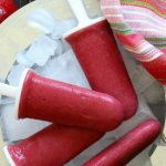Dairy Free Strawberry Frozen Yogurt Popsicles only have three ingredients. They're fun to make, refreshing, mildly sweet, gluten free & easy.