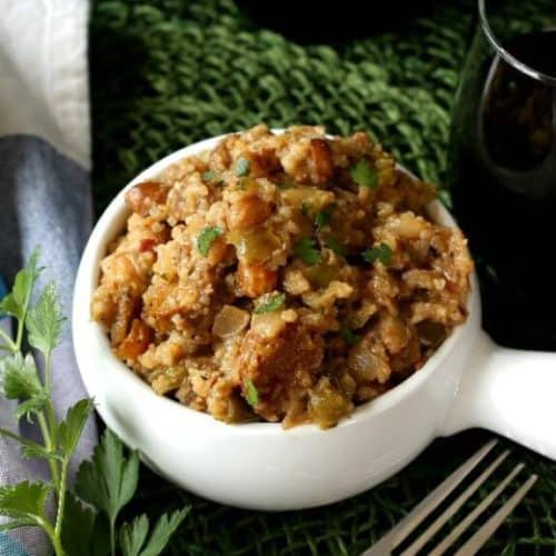 Rice Pilaf with Sausage and Peanuts is a great staple because, simply, everyone loves it.
