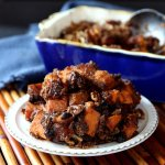 Chunky Raisin Sweet Potato Casserole is an updated version of sweet potato casserole.