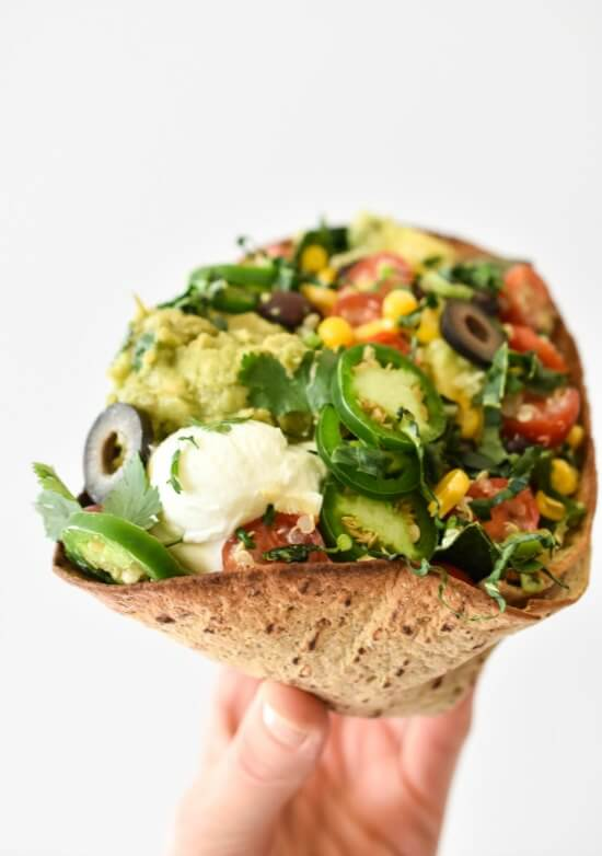 40 Vegan Mexican Style Recipes for year round enjoyment.  From the best bloggers with the best recipes. Superfood Taco Salad.