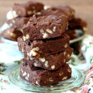 Chocolate Fudge with Cream Cheese is dairy free and makes you feel as if you're celebrating.