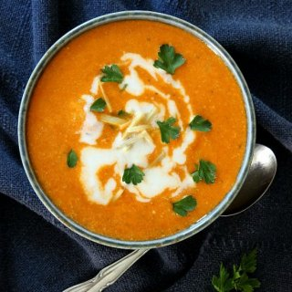 Cauliflower Tikka Masala Soup doesn't take nearly as long as a curry but has just the same amount of rich flavor.