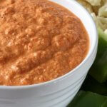 Rosy Red Sauce Dip is thick and creamy and just right for dipping in your favorite veggies. A roasted red bell pepper classic turned into an appetizer dip for all your entertaining days.