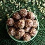That's right! Not rum balls but Spiced Rum Balls. A lot of simple ingredients that mix so well and taste so amazing.