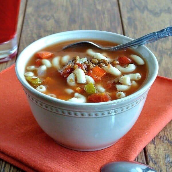 Easy Lentil Minestrone Soup Recipe