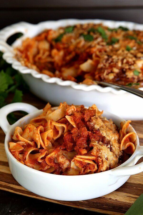 Plant-Based 'Chicken' Noodle Casserole