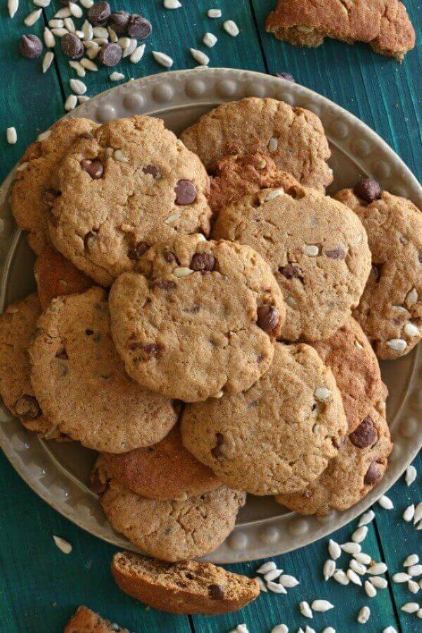 Sunflower Seed Chocolate Cookies are chocolaty with the surprise of sunflower seeds as another texture. Bake a few dozen for your cookie jar and your tummy.