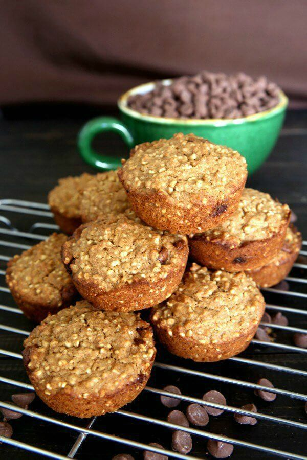 Irish Oatmeal Chocolate Chip Muffins