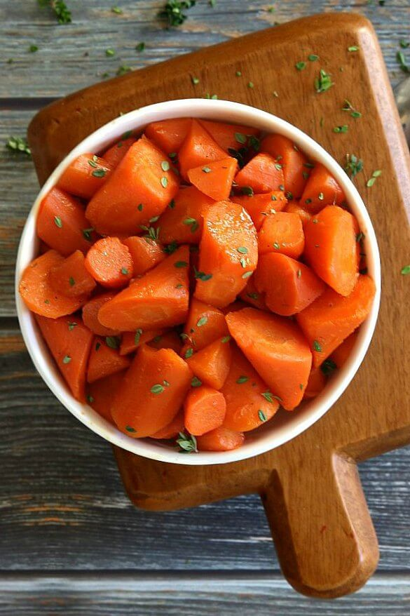 Maple Braised Carrots – Rolled Cut