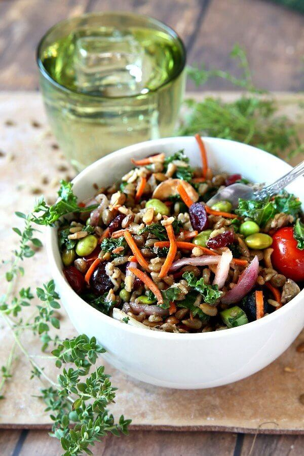 Superfood Salad with Maple Vinaigrette