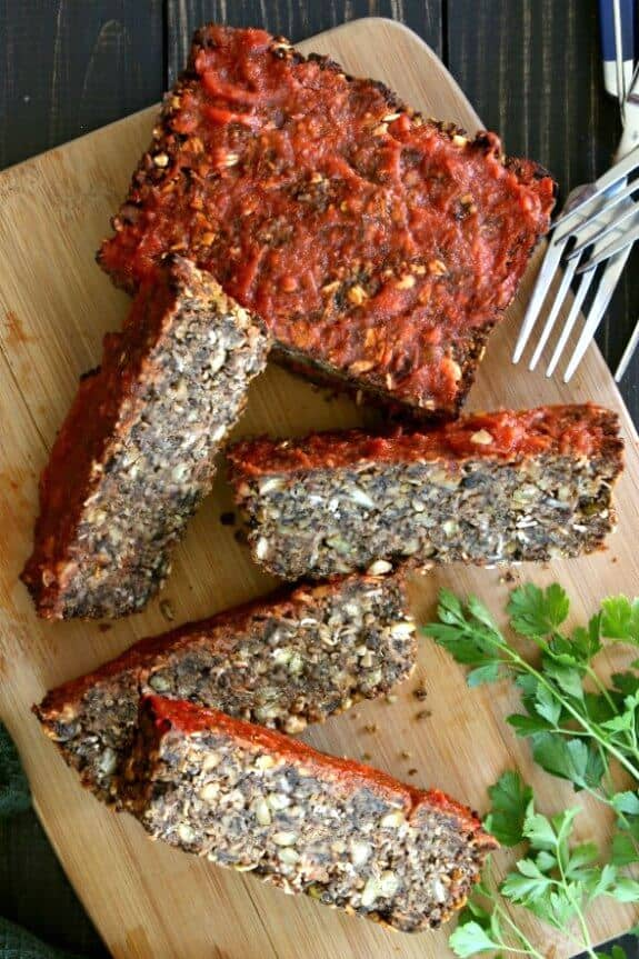 Vegan Meatloaf – Split Peas, Mushrooms and More