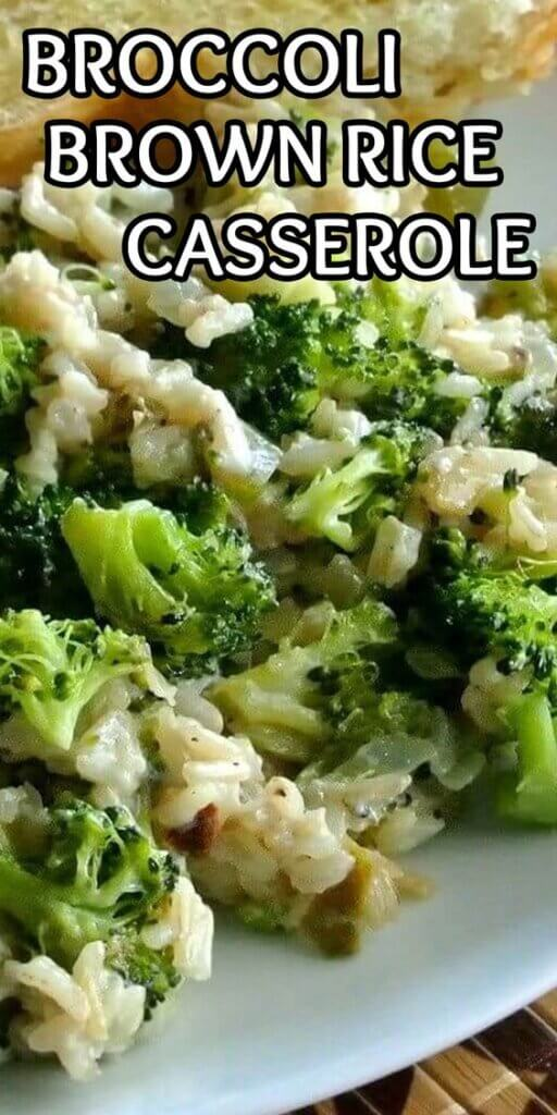 Mix of a close up of broccoli and rice on a dinner plate.