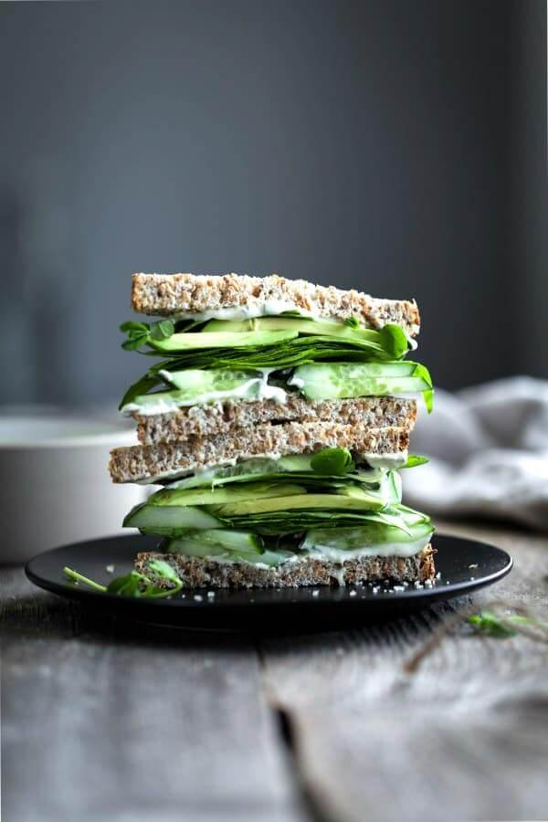 Green Goddess Sandwich w Creamy Herb 'Mayo'