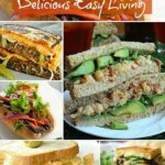 A collage of colorful and inviting sandwich photos from hoagies to grilled melty sandwiches.