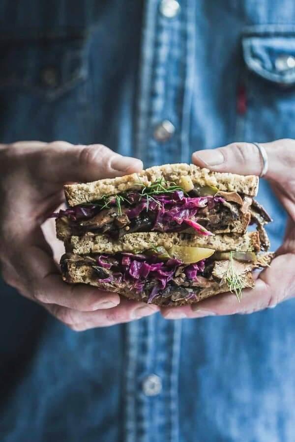 Vegan Mushroom Reuben Sandwich