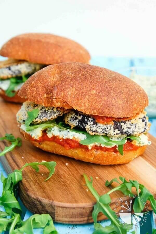 Crispy Eggplant Parmesan Sandwich