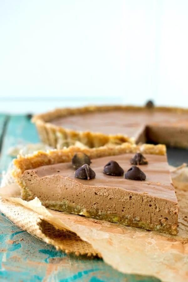Easy Vegan No-Bake Chocolate Peanut Butter Pie   Shane & Simple