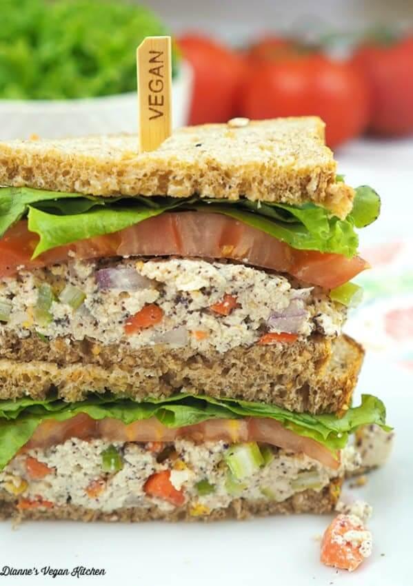 Vegan Tofu Tuna Salad Sandwiches