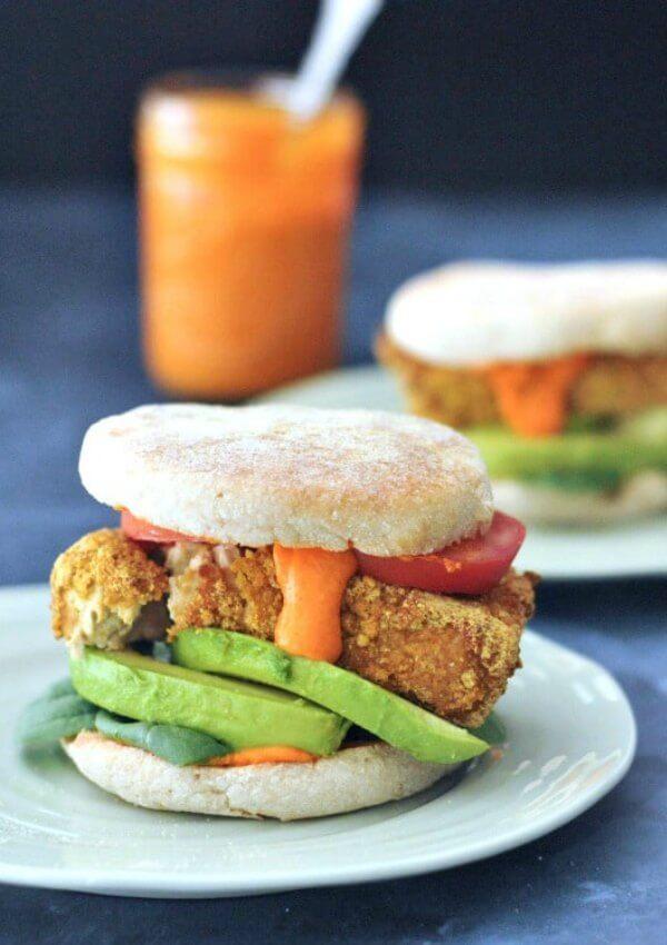 Sunrise Stack Veggie Breakfast Sandwich | Vegan