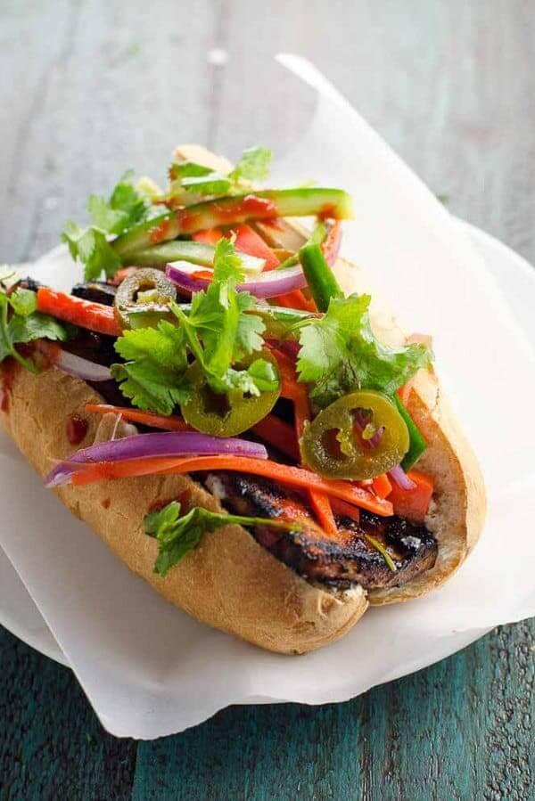 Vegan Banh Mi with Char Siu Tofu