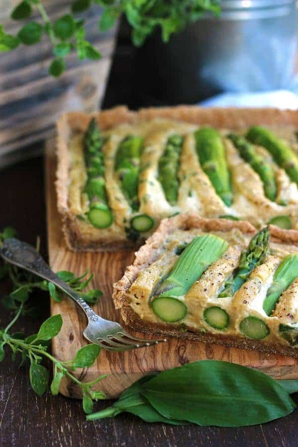 The Best Vegan Asparagus Quiche Ever