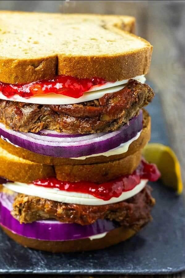 Vegan Meatloaf Sandwich