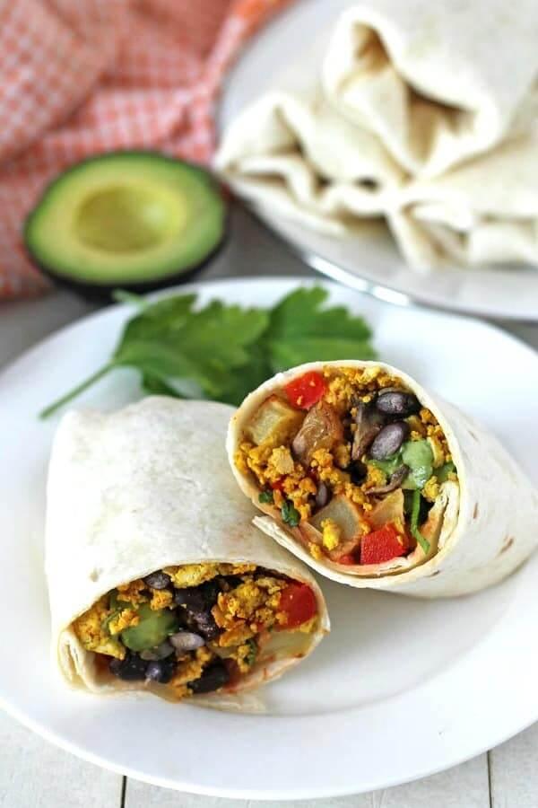 Freezer-Friendly Vegan Breakfast Burrito
