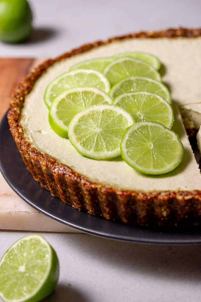 Raw Vegan Key Lime Pie Cheesecake