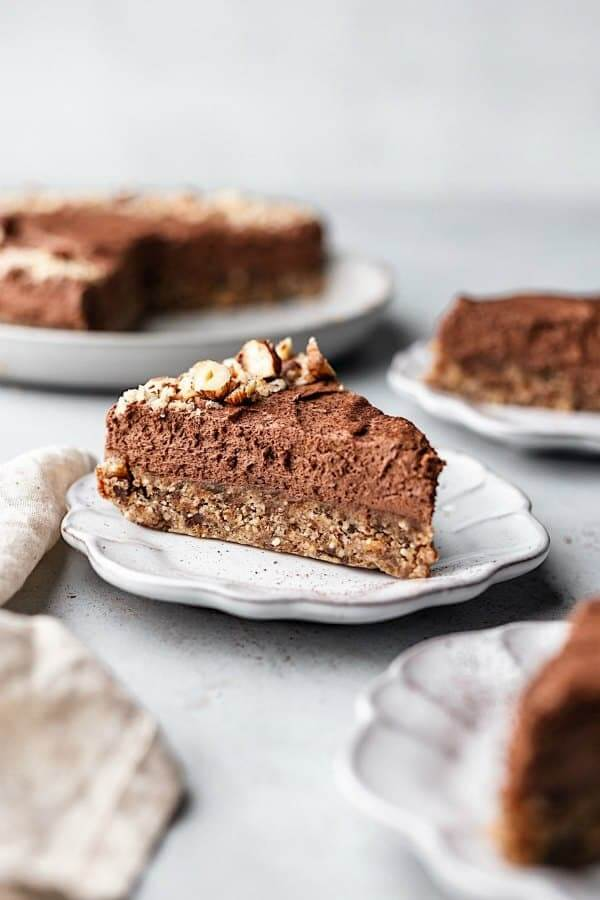 No Bake Chocolate & Hazelnut Cheesecake