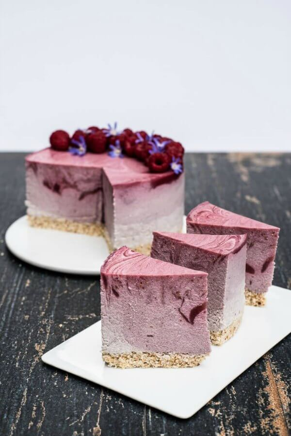 Vegan Raspberry Cheesecake - Vegan Family Recipes